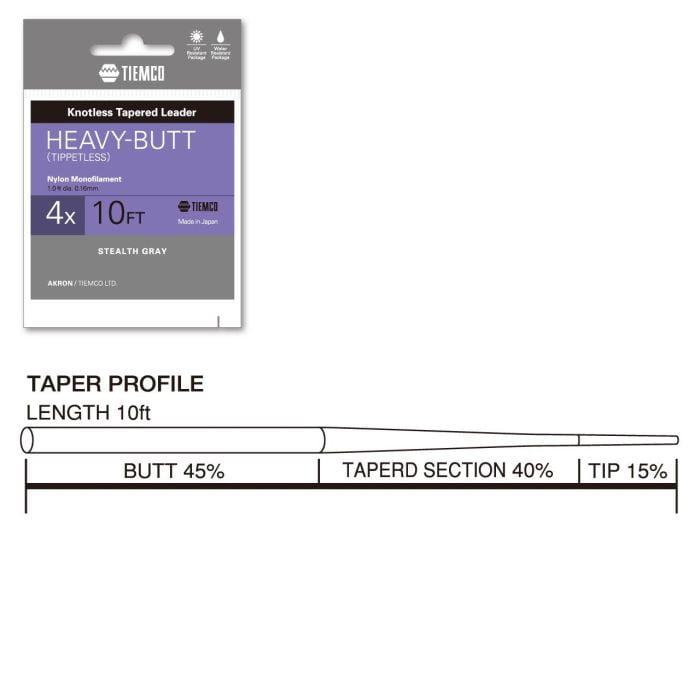Tiemco Akron Heavy Butt 10 fot Taperte Fortommer
