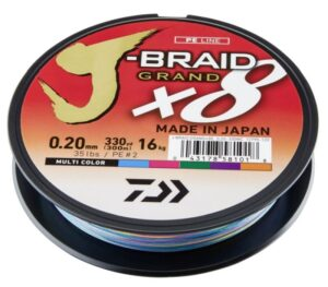 Daiwa J Braid X8 Grand 150m Multi Colour Multifilament