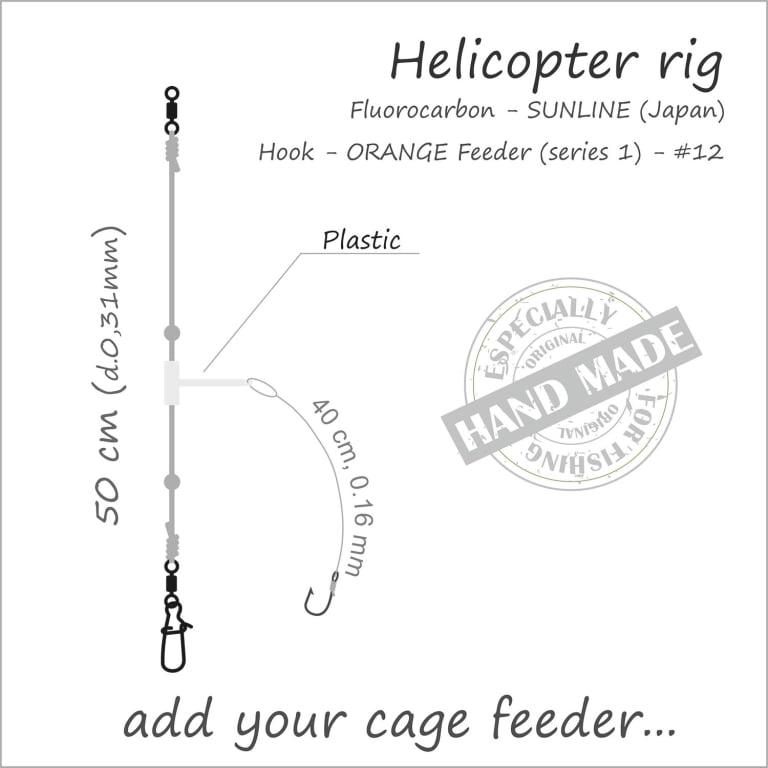 Orange Feeder Rig Helicopter (uten feeder kurv) Feeder Rigger