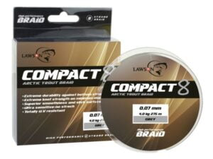 Lawson Compact 8 Trout 275m Grey Multifilament
